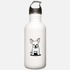 White Frenchie Water Bottle