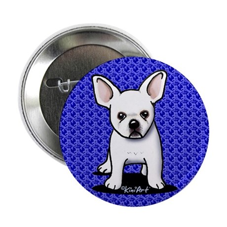 "White Frenchie 2.25"" Button (100 pack)"