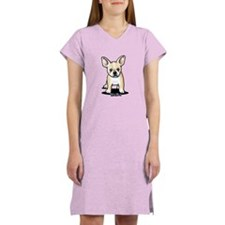 B/W French Bulldog Women's Nightshirt