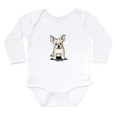 B/W French Bulldog Long Sleeve Infant Bodysuit