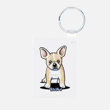 B/W French Bulldog Keychains