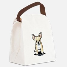 B/W French Bulldog Canvas Lunch Bag