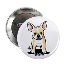"B/W French Bulldog 2.25"" Button"