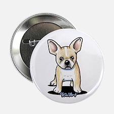 "B/W French Bulldog 2.25"" Button"