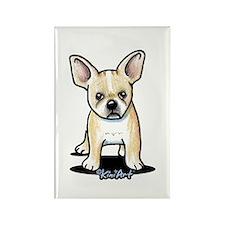B/W French Bulldog Rectangle Magnet (10 pack)