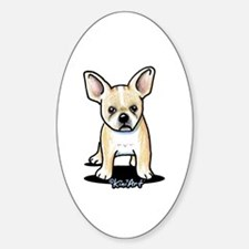B/W French Bulldog Sticker (Oval)