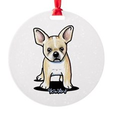 B/W French Bulldog Ornament