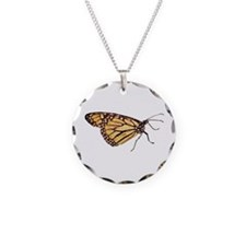 Monarch Butterfly Print Necklace