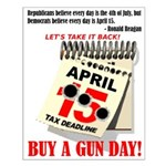 Buy a Gun Day Small Poster