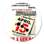 Buy a Gun Day Round Car Magnet