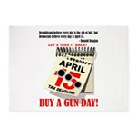 Buy a Gun Day 5'x7'Area Rug