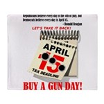 Buy a Gun Day Throw Blanket