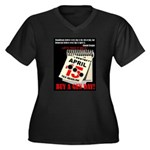 Buy a Gun Da Women's Plus Size V-Neck Dark T-Shirt