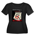 Buy a Gu Women's Plus Size Scoop Neck Dark T-Shirt