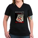 Buy a Gun Day Women's V-Neck Dark T-Shirt