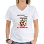 Buy a Gun Day Women's V-Neck T-Shirt