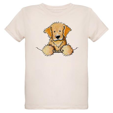 Pocket Golden Retriever Organic Kids T-Shirt