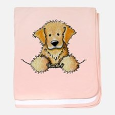 Pocket Golden Retriever baby blanket