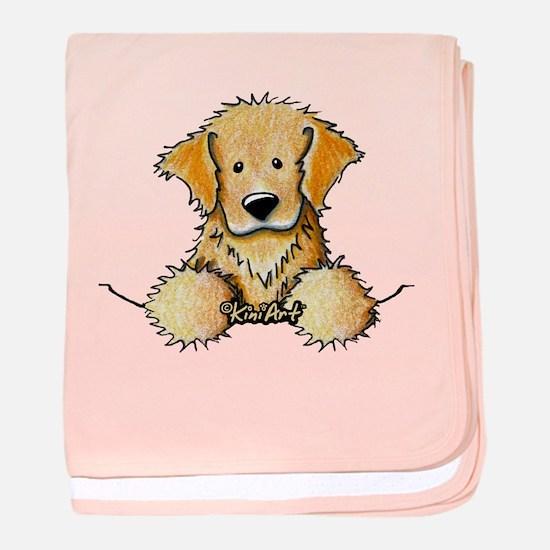 Pocket Golden Retriever baby blanket