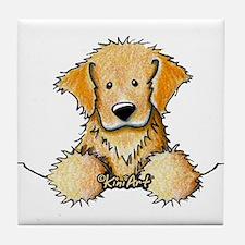 Pocket Golden Retriever Tile Coaster