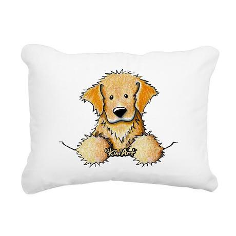 Pocket Golden Retriever Rectangular Canvas Pillow