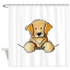 Pocket Golden Retriever Shower Curtain