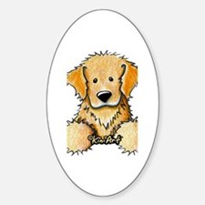 Pocket Golden Retriever Sticker (Oval)