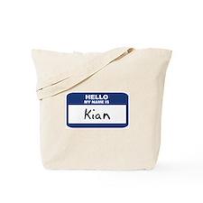 Hello: Kian Tote Bag