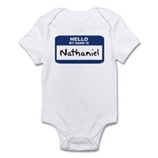 Hello: Nathaniel Infant Bodysuit