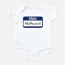 Hello: Nathaniel Infant Bodysuit