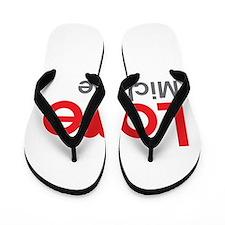 I Love Michelle Flip Flops