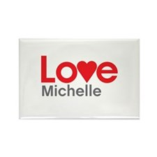 I Love Michelle Rectangle Magnet (10 pack)