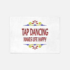 Tap Dancing Happy Life 5'x7'Area Rug