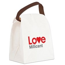 I Love Millicent Canvas Lunch Bag