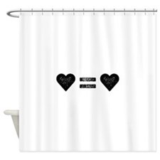 Love Equals Love Shower Curtain