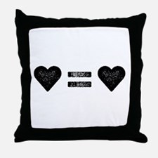 Love Equals Love Throw Pillow