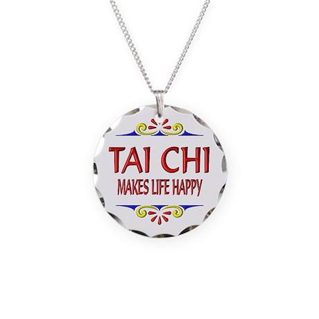 Tai Chi Happy Necklace Circle Charm