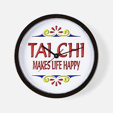 Tai Chi Happy Wall Clock