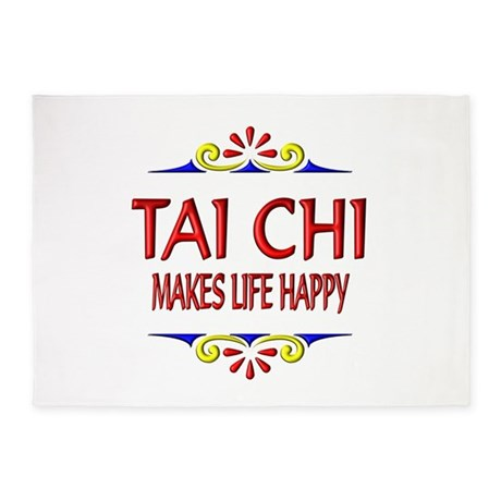 Tai Chi Happy 5'x7'Area Rug