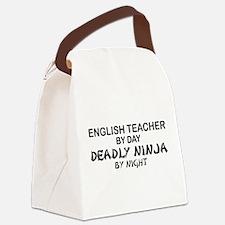 Cute School karate Canvas Lunch Bag