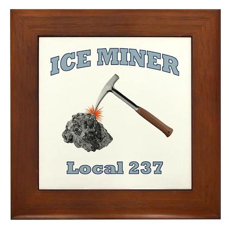 Ice Miner Framed Tile