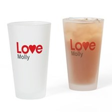 I Love Molly Drinking Glass