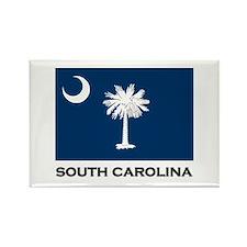 South Carolina Flag Stuff Rectangle Magnet