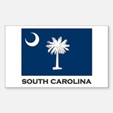 South Carolina Flag Stuff Rectangle Decal
