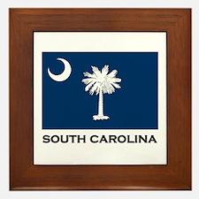 South Carolina Flag Stuff Framed Tile