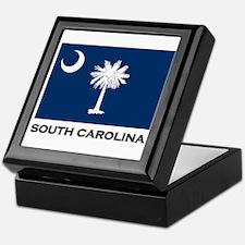 South Carolina Flag Stuff Keepsake Box
