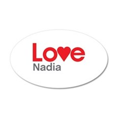 I Love Nadia Wall Decal