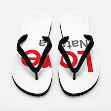 I Love Natasha Flip Flops