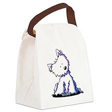 KiniArt Curious Westie Canvas Lunch Bag