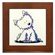 KiniArt Curious Westie Framed Tile